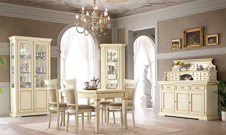 luxus wohnzimmer ducale elfenbein gold furnier holz aus italien ebay. Black Bedroom Furniture Sets. Home Design Ideas
