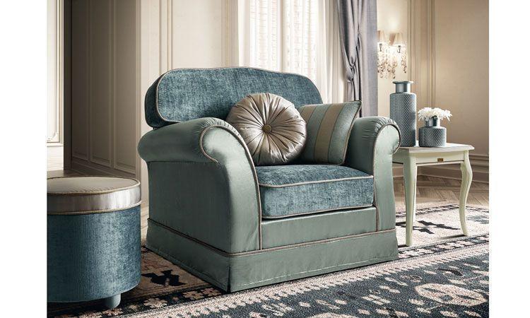 Big Sofa Treviso 4-Sitzer Stoffbezug Sand Gestreift