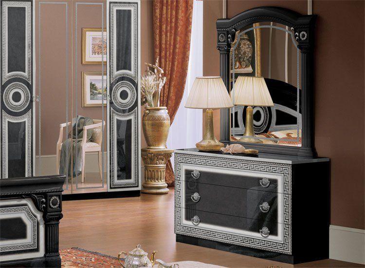 aida schwarz-silber - Schlafzimmer Schwarz Silber