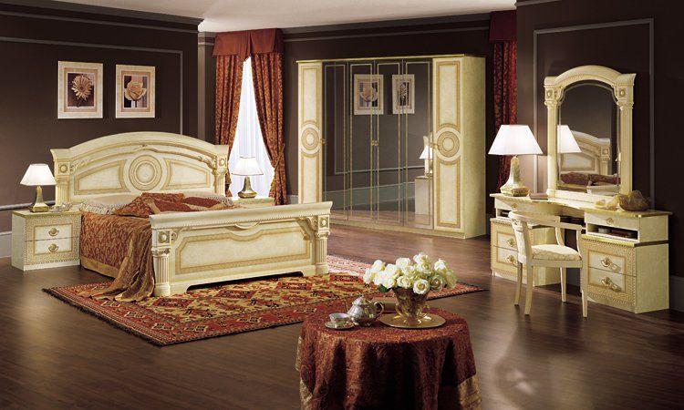 Schlafzimmer Aida Beige-Gold Hochglanz
