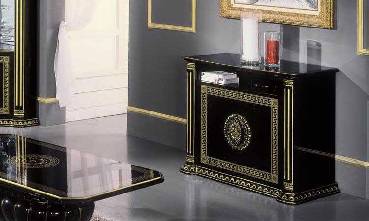 Rossella Schwarz-gold Komp.3 Wohnzimmer Schwarz Gold