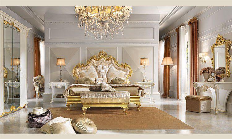 Schlafzimmer Diamante Weiß-Gold Komp.1 online kaufen - SPELS MÖBEL