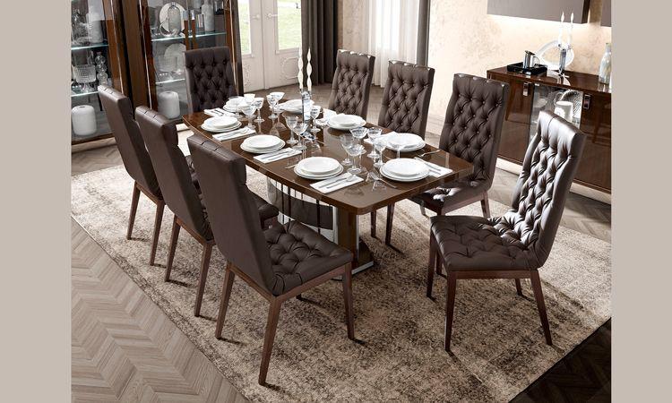 essgruppe roma nussbaum hochglanz. Black Bedroom Furniture Sets. Home Design Ideas