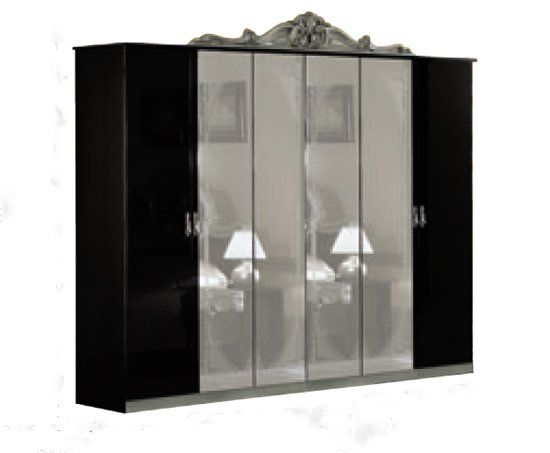 kleiderschrank schlafzimmer schrank schwarz silber. Black Bedroom Furniture Sets. Home Design Ideas