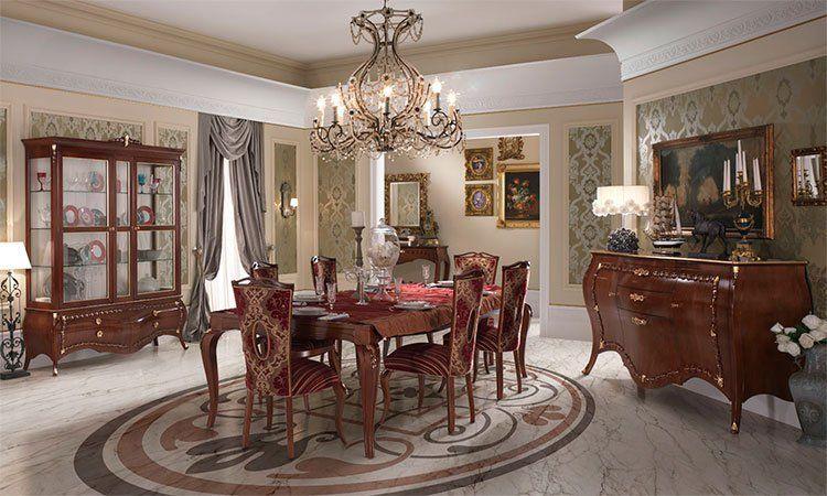 Wohnzimmer Esszimmer La Belle Epoque Nussbaumfarbe