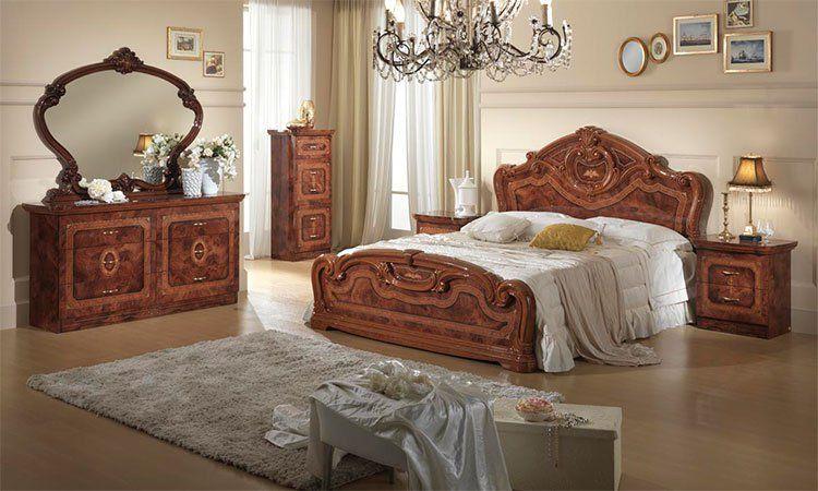 komplett schlafzimmer nussbaum hochglanz bett kommoden. Black Bedroom Furniture Sets. Home Design Ideas