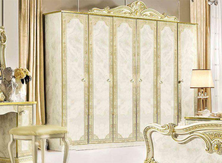 Luxus schrank 4 t rig leonardo beige gold stilm bel aus italien klassisch ebay - Stilmobel italien ...