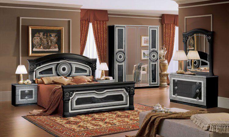 Schlafzimmer schlafzimmer schwarz silber schlafzimmer schwarz silber schlafzimmer schwarz - Schlafzimmer bei ebay ...