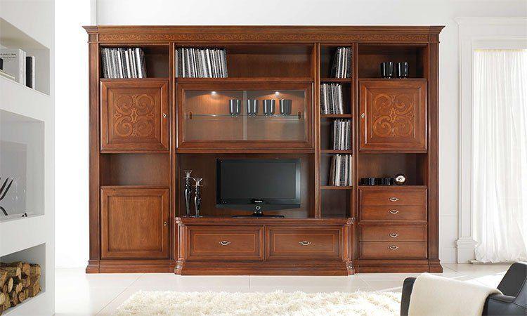 klassische anbauw nde hochglanz italienische wohnw nde online kaufen spels m bel. Black Bedroom Furniture Sets. Home Design Ideas