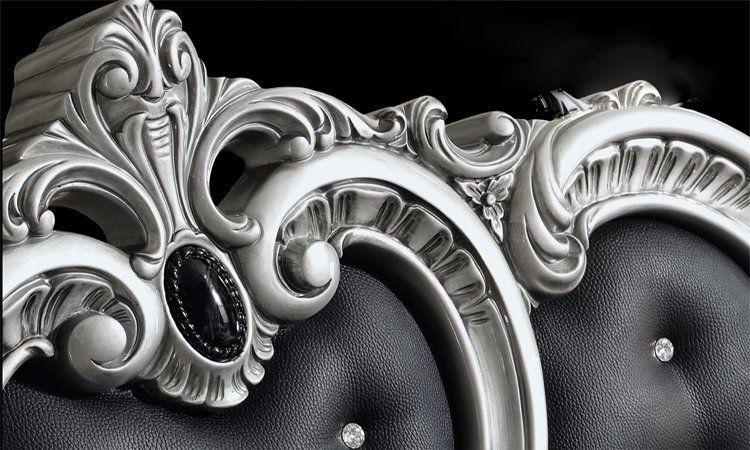 barocco schwarz-silber - Schlafzimmer Schwarz Silber