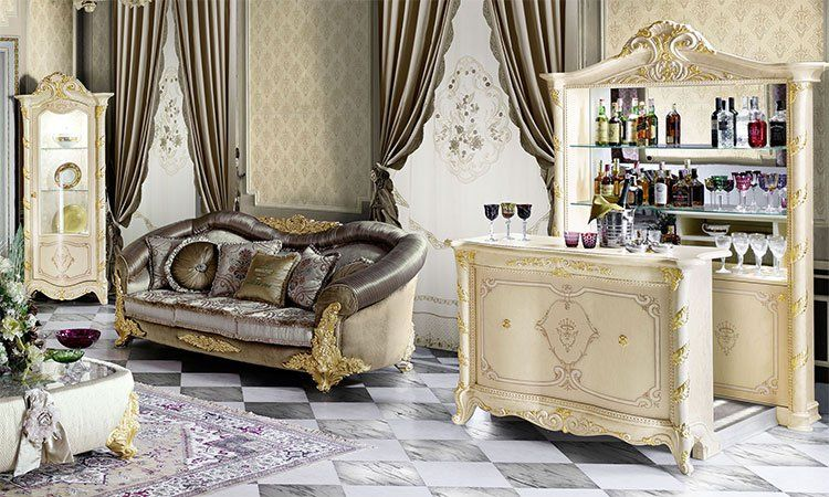 exklusive wohnzimmer madame royale. Black Bedroom Furniture Sets. Home Design Ideas