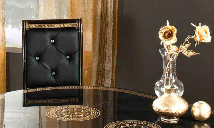 Rossella Schwarz-gold Komp.1 Wohnzimmer Schwarz Gold