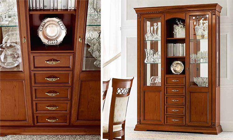 luxus b ro b cher schrank 3 t rig kirschbaum stil moebel. Black Bedroom Furniture Sets. Home Design Ideas