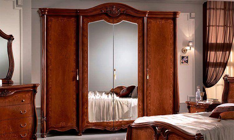 komplett klassisches italienisches schlafzimmer in nussbaum farbe matt lackiert ebay. Black Bedroom Furniture Sets. Home Design Ideas