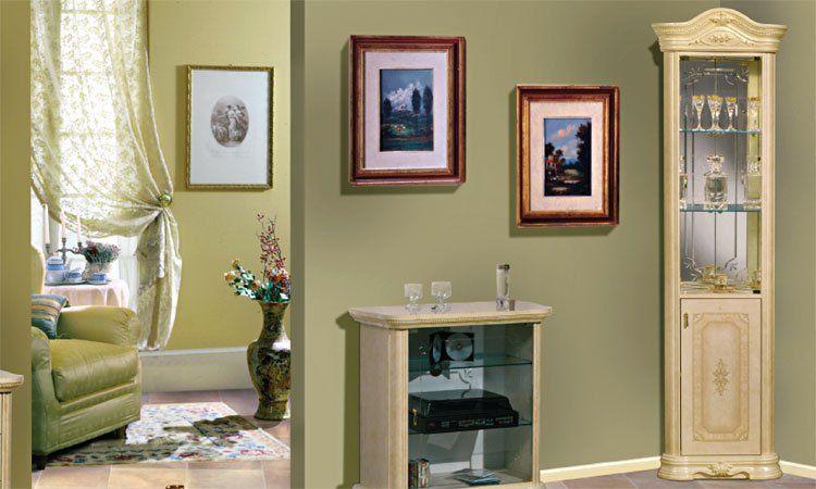 Eckvitrine eckschrank beige hochglanz glas holzt r for Klassische mobel ebay