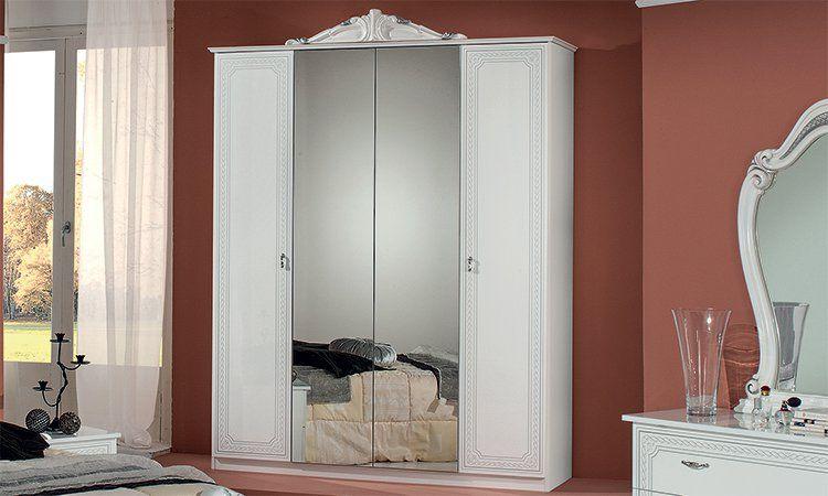 bettgestell doppelbett klassisches bett wei silber. Black Bedroom Furniture Sets. Home Design Ideas