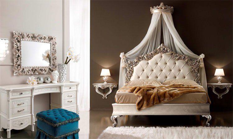 Schlafzimmer Casa Verdi in Blattsilber