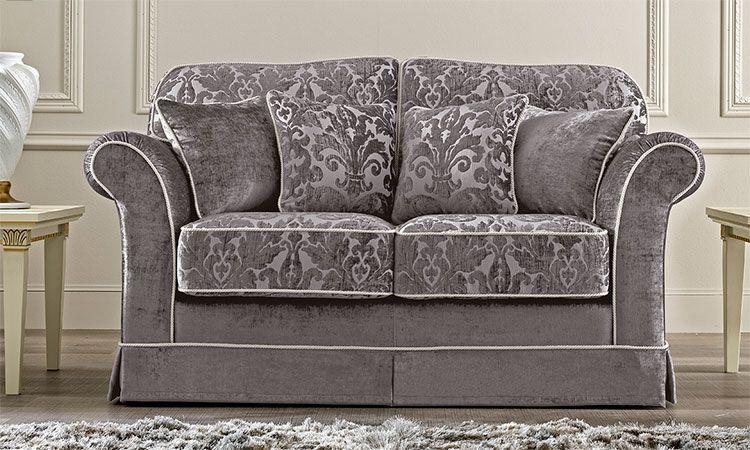 Luxus Sofa Couch 2 Sitzer Polster Stoff Zeitlose Klassische Stil ...