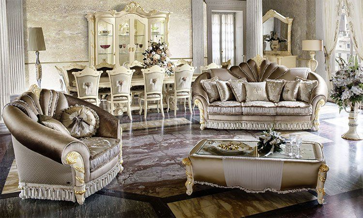 exklusive wohnzimmer polsterm bel madame royale. Black Bedroom Furniture Sets. Home Design Ideas