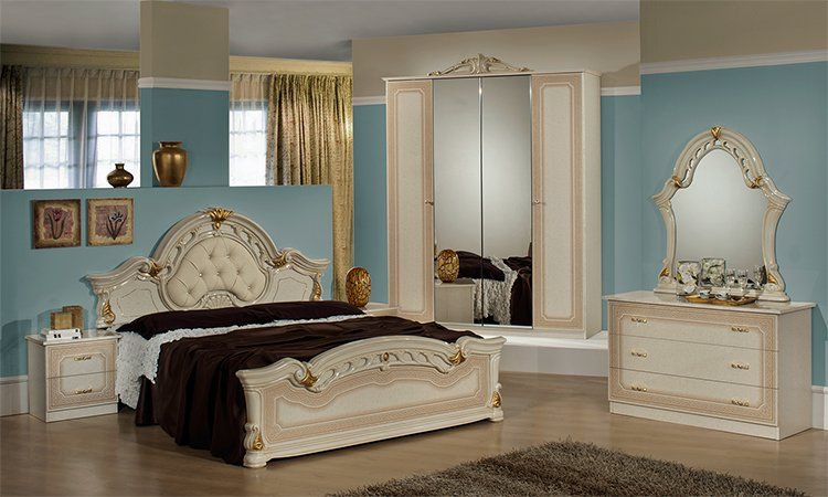 schlafzimmer stella in beige. Black Bedroom Furniture Sets. Home Design Ideas