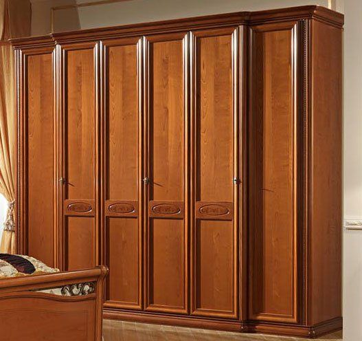 schlafzimmerschrank kleiderschrank kirschbaum lackiert spiegel stilm bel italien ebay. Black Bedroom Furniture Sets. Home Design Ideas