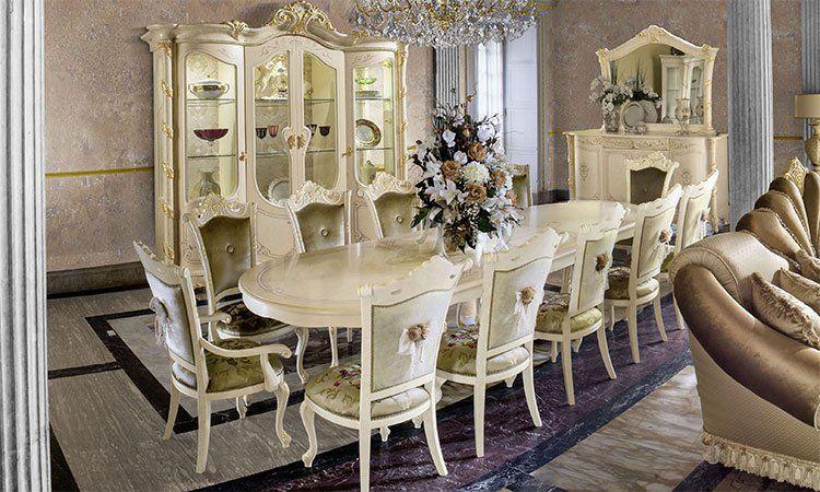 exklusives wohnzimmer esszimmer madame royale. Black Bedroom Furniture Sets. Home Design Ideas