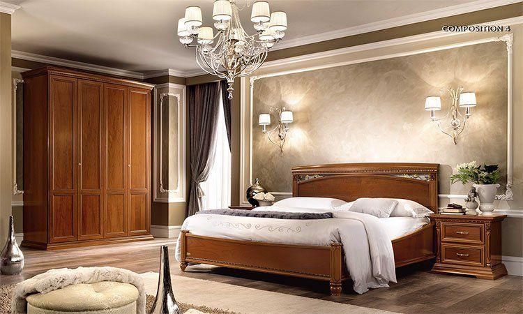 Luxe Chambre à coucher Trévise Cerisier meuble design d\'Italie ...