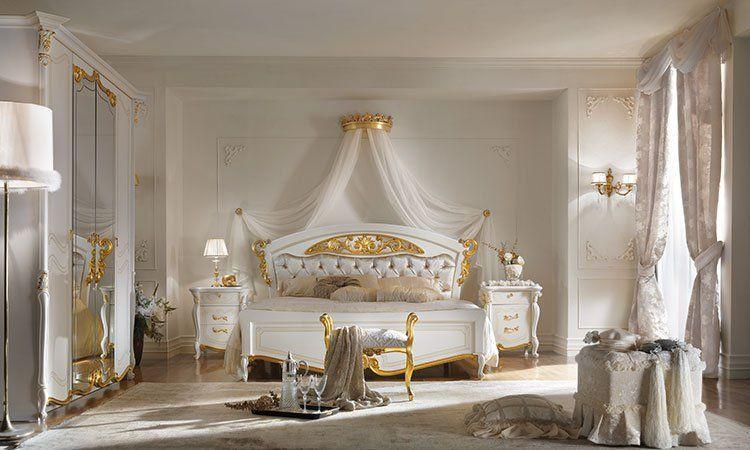 Schlafzimmer La Fenice Laccato Gold