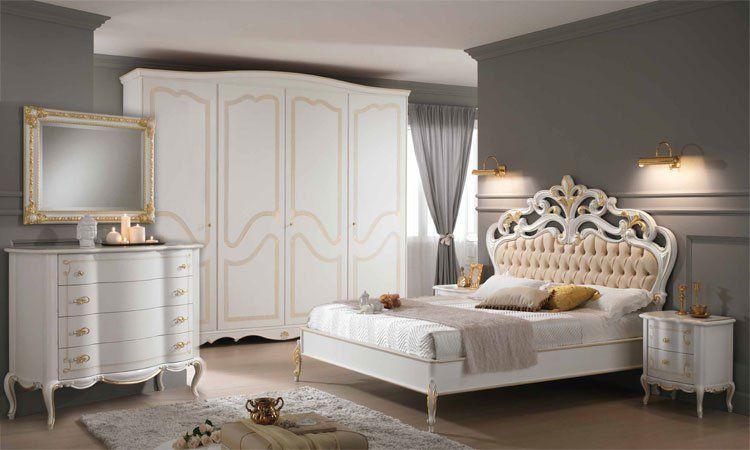 Schlafzimmer Classici Ischia Weiß-Gold online kaufen - SPELS MÖBEL