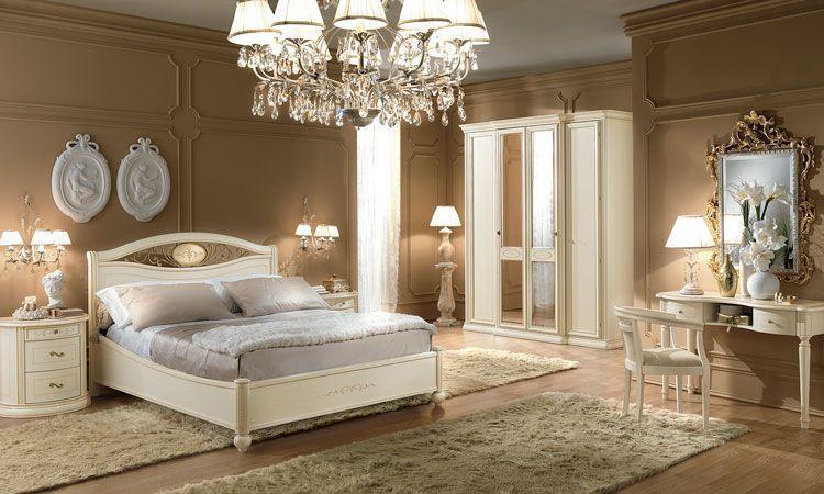 Schlafzimmer Siena Beige Holzfurnier Massivholz