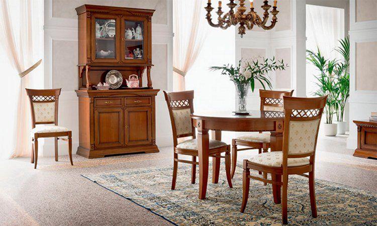 Esstisch rund ausziehbar ducale kirschbaum furnier holz for Esstisch rund designklassiker