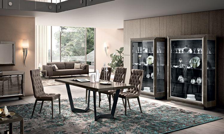 Wohnzimmer Esszimmer Elite Rauch Grau Online Kaufen Spels Möbel