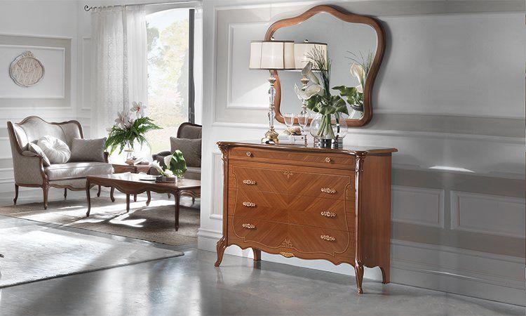 luxus bettgruppe giulietta furnier nussbaum italienische klassische stilmoebel ebay. Black Bedroom Furniture Sets. Home Design Ideas