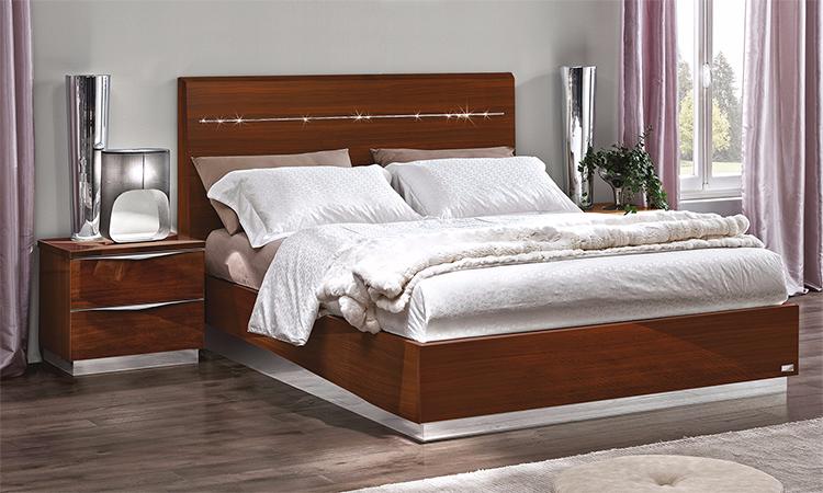 Modernes jugend schlafzimmer braun laminiert hochglanz for Italienisches schlafzimmer hochglanz