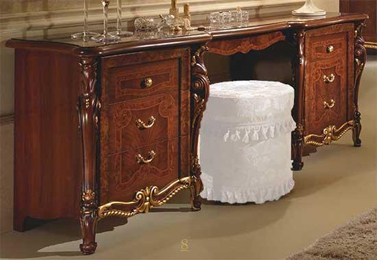 klassische damenkommode frisierkommode schminktisch nussbaum italienische m bel ebay. Black Bedroom Furniture Sets. Home Design Ideas