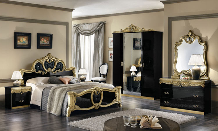 schlafzimmer barocco schwarz gold. Black Bedroom Furniture Sets. Home Design Ideas