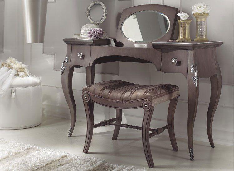 Schlafzimmer diva antik braun - Schminktisch braun ...