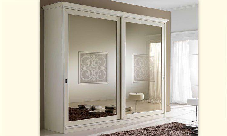 Schlafzimmerschrank modern mit spiegel  Schlafzimmer Margot-Stilema Elfenbein
