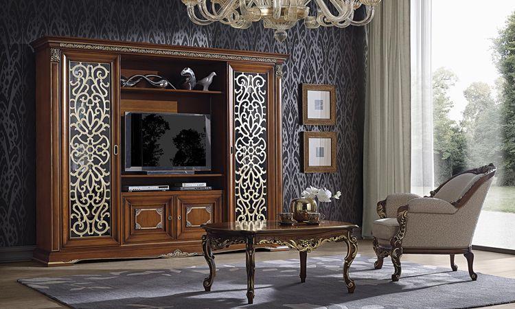 Tv Wohnwand Vivaldi Saoncella Kirschbaum Online Kaufen Spels Möbel