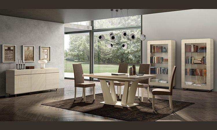 Schon 15 Von 15 Wohnzimmer Esszimmer Perla Lärche Weiß   Modern   Beige