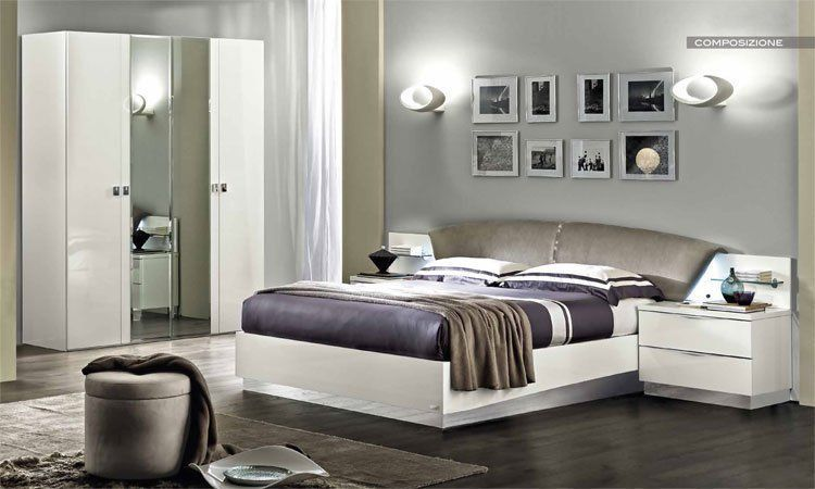 modernes jugend schlafzimmer in wei laminiert hochglanz italienische m bel stil ebay. Black Bedroom Furniture Sets. Home Design Ideas
