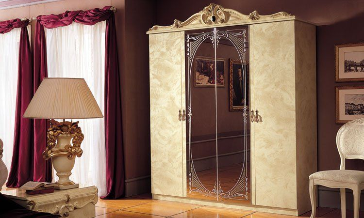 schlafzimmer komplett set barocco beige gold hochglanz stilm bel aus italien ebay. Black Bedroom Furniture Sets. Home Design Ideas