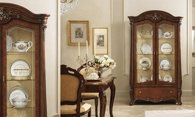 k chentisch esstisch ausziehbar rechteckig nussbaum klassische m bel aus italien ebay. Black Bedroom Furniture Sets. Home Design Ideas