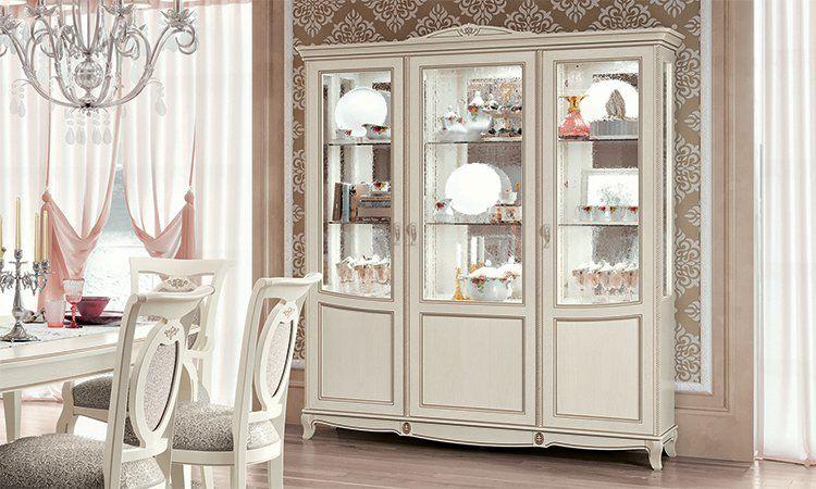Klassische vitrine glasvitrine vitrinenschrank esche for Klassische mobel ebay
