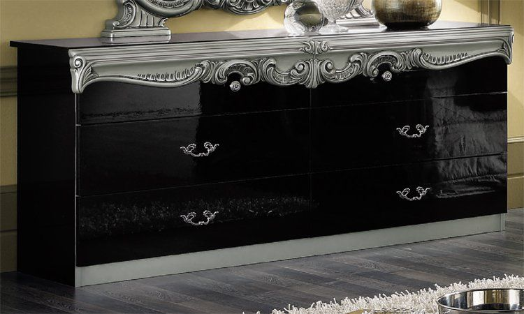 schlafzimmer barocco schwarz silber. Black Bedroom Furniture Sets. Home Design Ideas