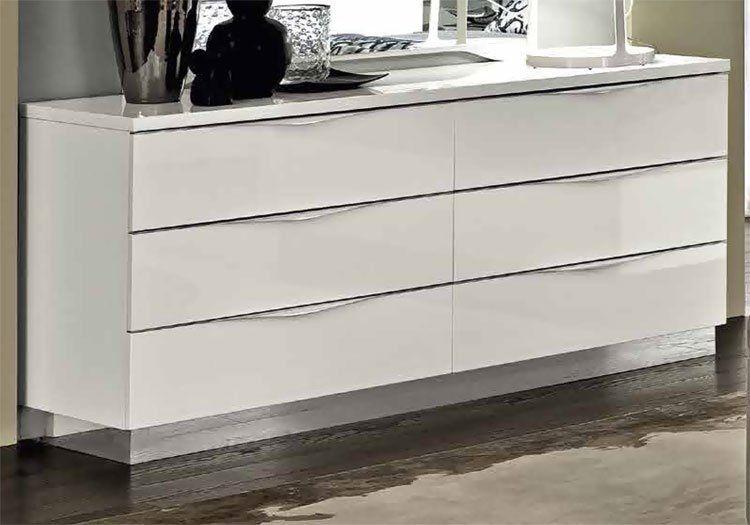 modernes jugend schlafzimmer in wei laminiert hochglanz italienische m bel stil ebay. Black Bedroom Furniture Sets. Home Design Ideas