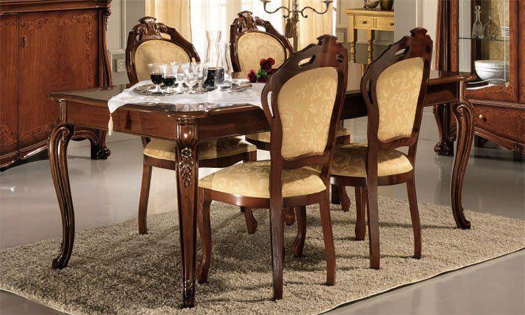 esstisch ausziehbarer tisch nussbaum matt lackiert klassische m bel aus italien ebay. Black Bedroom Furniture Sets. Home Design Ideas