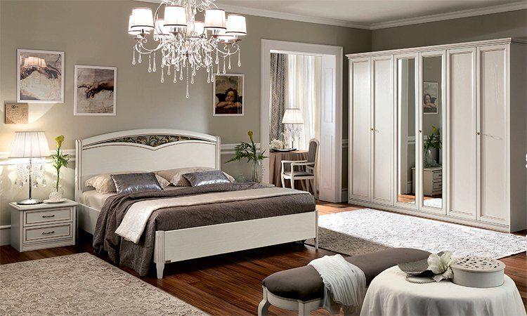 Schlafzimmer Ricordi Antik-Weiß Holzfurnier