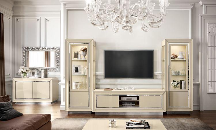 Wohnzimmer Esszimmer La Star Beige Hochglanz online kaufen - SPELS MÖBEL