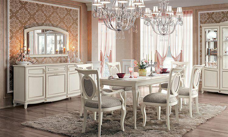 Wohnzimmer fantasia bianco antico for Italienische esszimmer